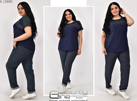 Летний костюм женский большие размеры Украина Размеры: 52-54, 56-58, 60-62, 64-66, фото 2