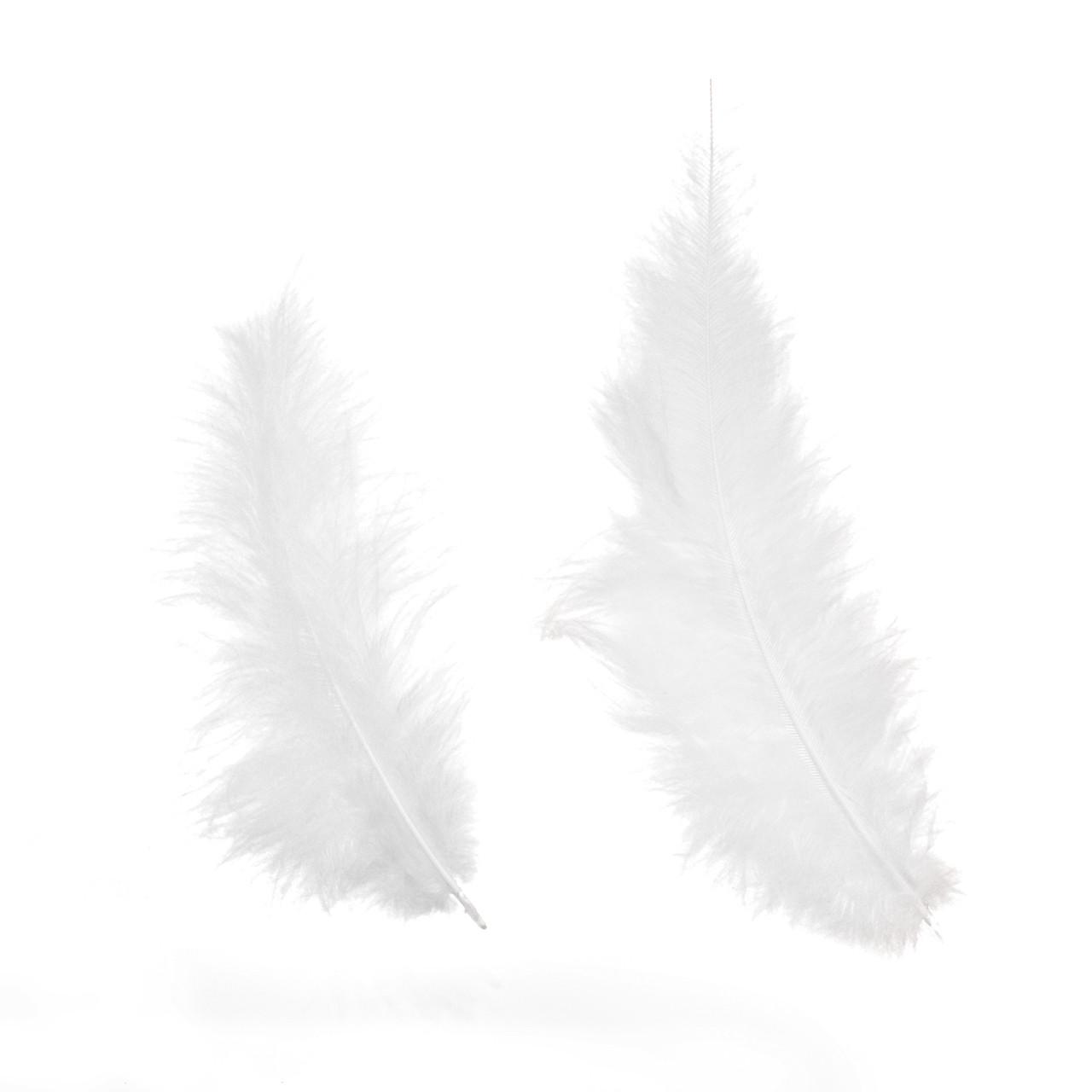 Перо индейки, Белое, 13-18 см, 10 шт