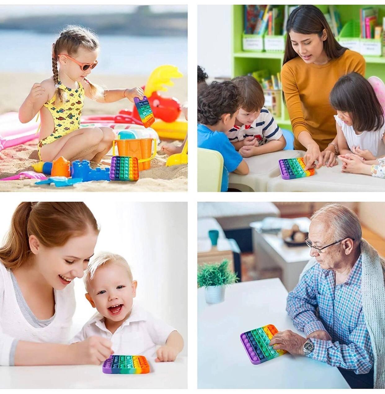 Детская игрушка антистресс Поп ит ЕДИНОРОГ радужный, Pop it антистресс, оригинальный подарок ребенку - фото 7