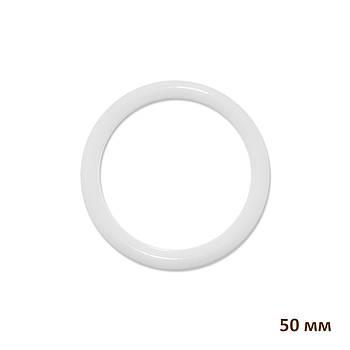 Основа круглая для макраме, ловца снов, полипропилен, белая, 50 мм