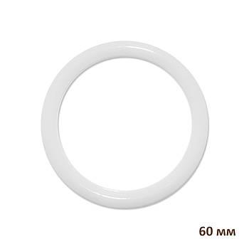 Основа круглая для макраме, ловца снов, полипропилен, белая, 60 мм