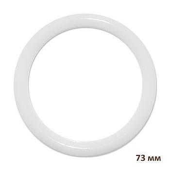 Основа круглая для макраме, ловца снов, полипропилен, белая, 73 мм