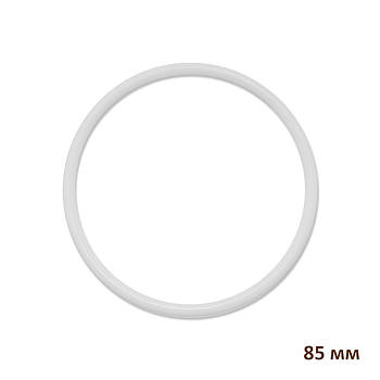 Основа круглая для макраме, ловца снов, полипропилен, белая, 85 мм