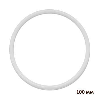 Основа круглая для макраме, ловца снов, полипропилен, белая, 100 мм