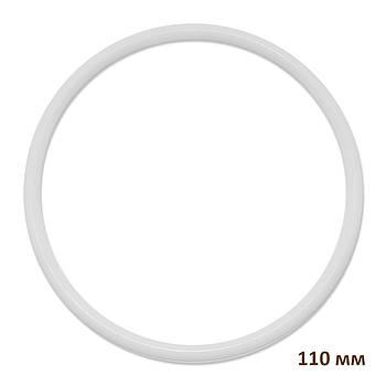 Основа круглая для макраме, ловца снов, полипропилен, белая, 110 мм