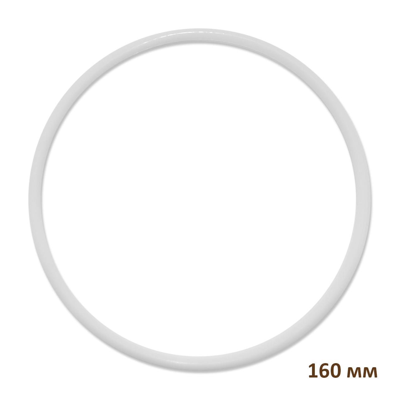 Основа кругла для макраме, ловця снів, поліпропілен, білий, 160 мм