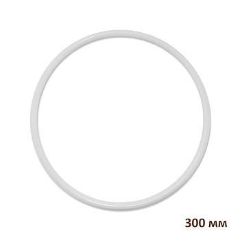 Основа круглая для макраме, ловца снов, полипропилен, белая, 300 мм