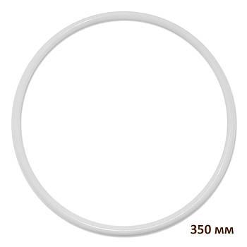 Основа круглая для макраме, ловца снов, полипропилен, белая, 350 мм