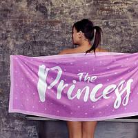 Пляжное полотенце с принтом The princess