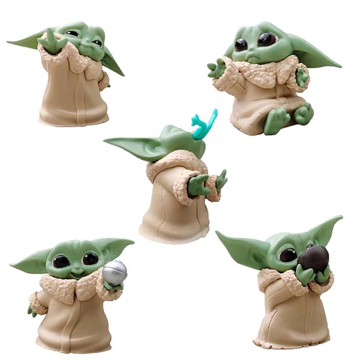 """Набір фігурок 5в1 Малюк Йоду (Мандолорец) з серіалу """"Зоряні воїни"""" - Star Wars, Mandalorian, 6 см"""