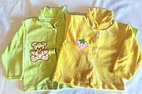 Велюровые кофты для малышей, унисекс, желтая и салатовая, 0-3, 3-6 месяцев