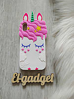 Чехол на iPhone ХR Единорог белый, фото 1