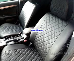 Чехлы на сиденья экокожа ромб для Chevrolet Aveo 2002-12 г.