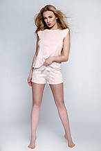 """Женская розовая пижама с принтом """"перышки"""" Blanca Sensis"""