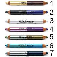 Тени-карандаш для век №3(белый перламутр/белый бриллиант) Aden Cosmetics