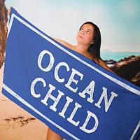 Пляжное полотенце с принтом Ocean child