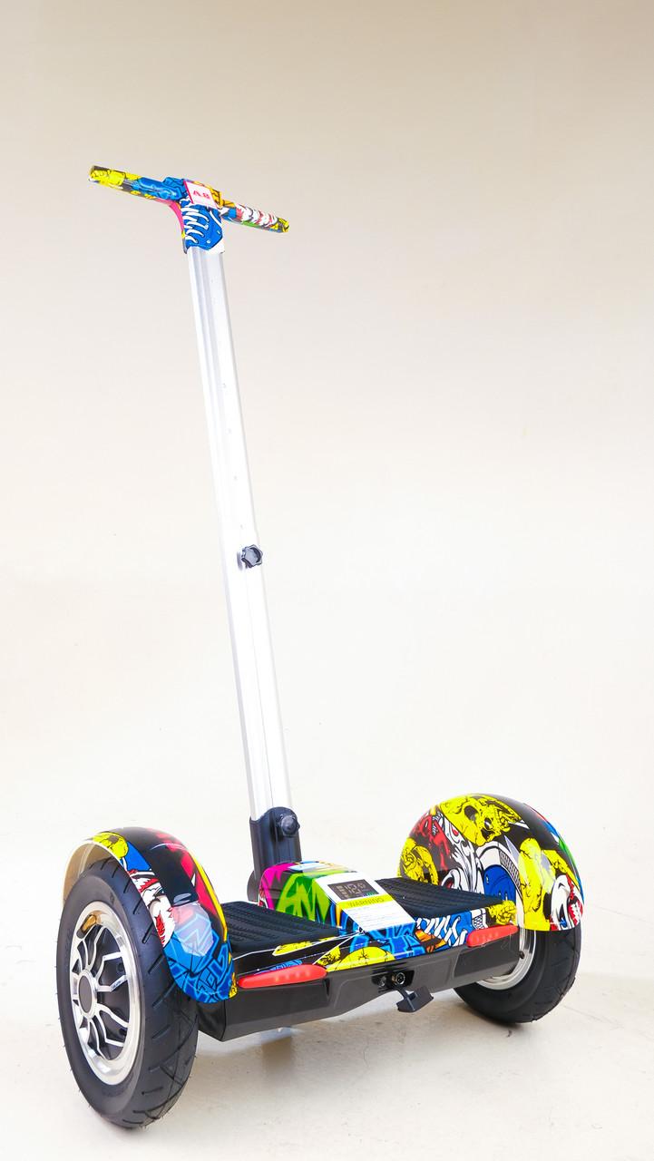 Гироскутер-сигвей с ручкой Smart Balance Wheel А8 Рыбки