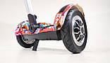 Гироскутер-сигвей с ручкой Smart Balance Wheel А8 Рыбки, фото 8