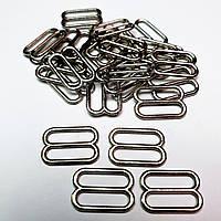 Перетяжка для бюстгальтера, для бретелей, регулятори 10 мм метал чорний нікель (20 шт/уп).