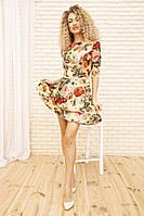 Платье 167R86 цвет Темно-бежевый