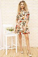 Платье 167R86 цвет Бежевый