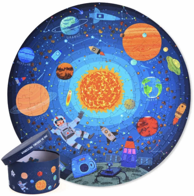 Круглый пазл Космическое путешествие Mideer 150 элементов