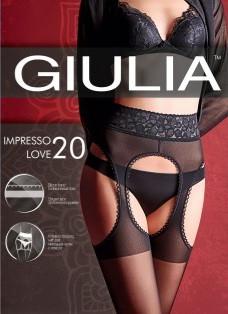 Колготки имитация чулков с кружевным поясом на силиконовой резинке Giulia IMPRESSO LOVE