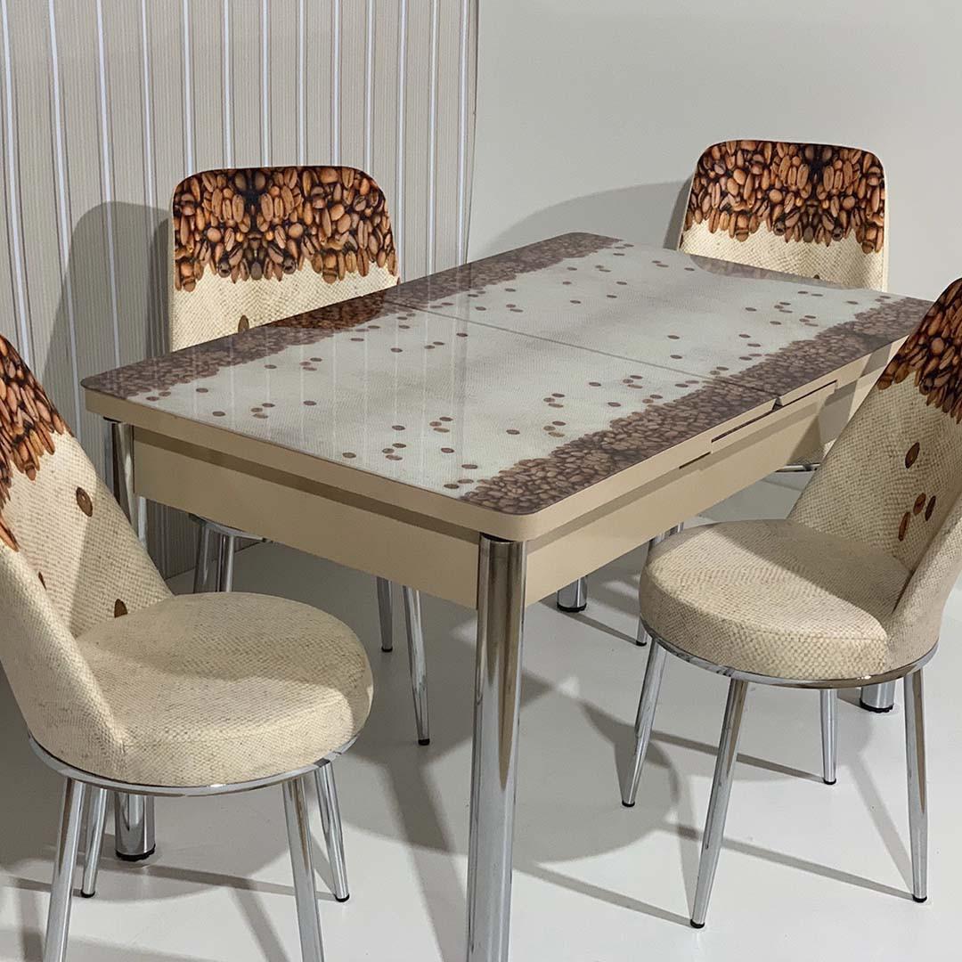 Обеденный стол раскладной со стеклянной столешницей  , модель 663 Demiral