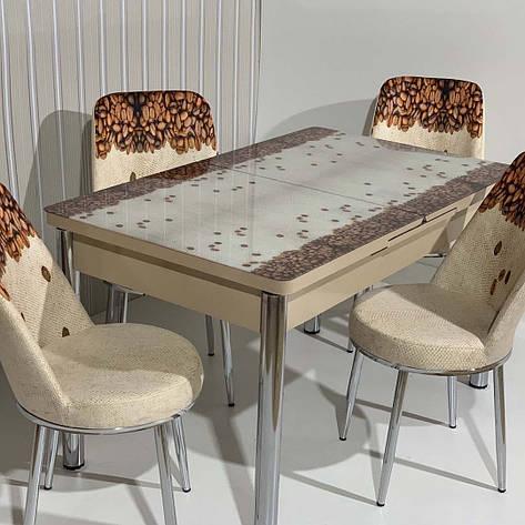 Обеденный стол раскладной со стеклянной столешницей  , модель 663 Demiral, фото 2