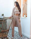 Женский костюм для дома и отдыха. Топ, штаны Sensis Laida бежевый S/M, фото 2