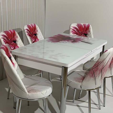 Обідній стіл розкладний зі скляною стільницею , модель 560 Demiral, фото 2