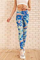 Лосины жен.172R3105-6 цвет Сине-салатовый