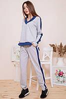 Спорт костюм женский 102R147 цвет Серо-синий