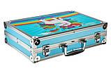 """Дитячий набір для творчості художника """"Єдиноріг"""" 145 предметів у двохярусному алюмінієвому валізі Синій, фото 10"""