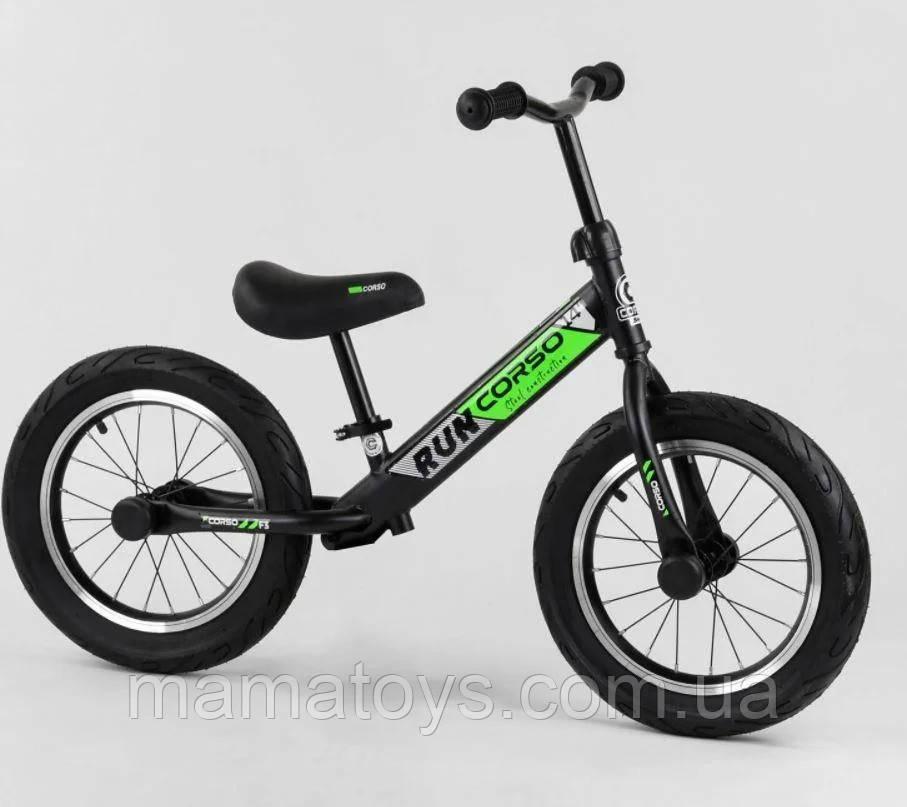 """Велобіг від Corso CR-6247 Чорно зелений Надувні колеса 14"""" дюймів"""
