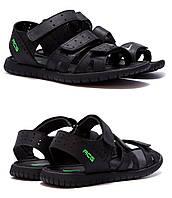 Мужские кожаные сандалии Nike ACG Black (реплика). Мужские кожаные шлёпанцы, шлепки, сланцы, босоножки