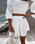 Костюм женский летний красивый с шортами Оверсайз, фото 2