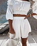 Костюм жіночий річний гарний з шортами Оверсайз, фото 2