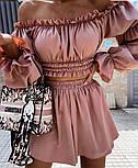 Костюм женский летний красивый с шортами Оверсайз, фото 4
