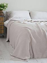 Покривало 220x240 BETIRES cotton deniz ecru light beige (100% бавовна) світло бежевий