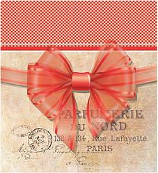 Подарунковий паперовий пакет КВАДРАТ 23*24*10 см Бант