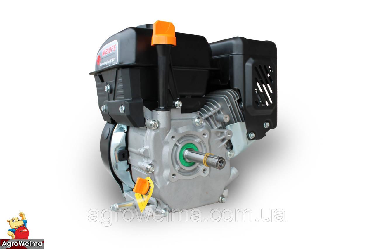 Бензиновий двигун WEIMA W210FS-вал 19мм Q3, для снігоприбирачів, вал 20мм шпонка