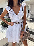 Жіноче плаття літнє красиве на запах прошва, фото 2