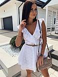 Жіноче плаття літнє красиве на запах прошва, фото 3