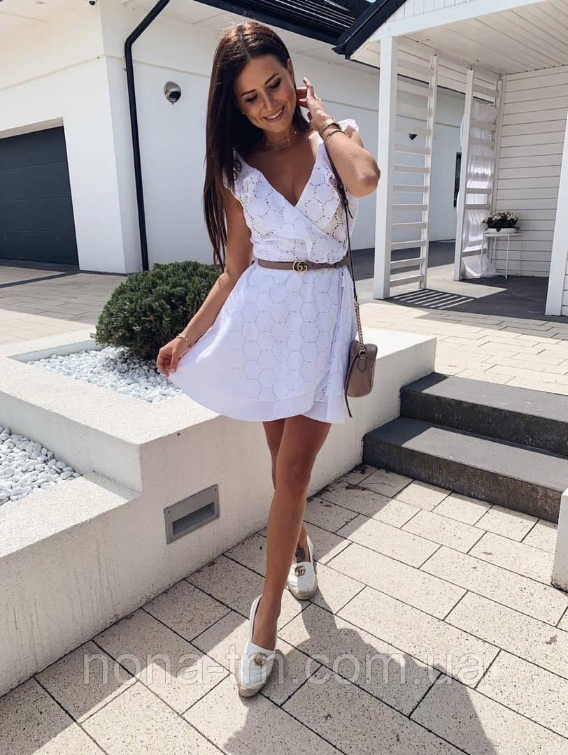 Женское платье летнее красивое на запах прошва