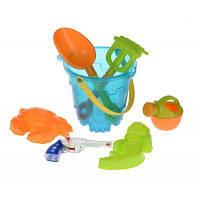Игрушка для песка Same Toy 6 ед. Ведерко синее (882Ut-1)