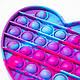 Антистресс пупырка Pop it - Фиолетовое большое 14,5х14 см сердце с разводами №3   игрушка для рук Поа ит (ST), фото 2