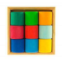 Конструктор nic деревянный Разноцветный ролик (NIC523347)