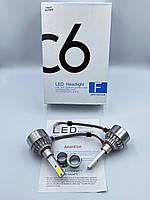 Комплект автомобильных LED ламп C6 H1 12v 24v 6500K
