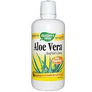 Алоэ вера, листовой гель и сок, Aloe Vera Leaf Gel & Juice, Nature's Way, 1000 мл